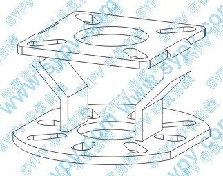 butterfly valve support